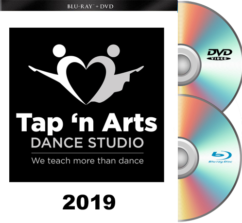 6- 1-19 Tap n' Arts 2019 4pm  BLU RAY/DVD set